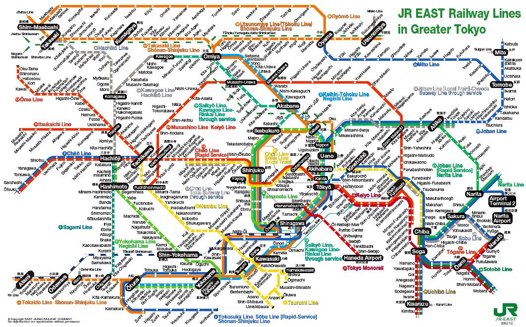 Tokyo JR Map